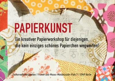"""Familienworkshop """"Papierkunst"""" im Rahmen von Familiensamstagen von Zuckerwattenkrawatten"""