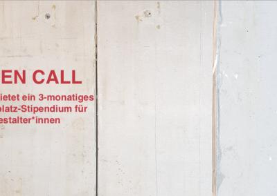 OPEN CALL: Arbeitsplatz-Stipendium für Gestalter*innen