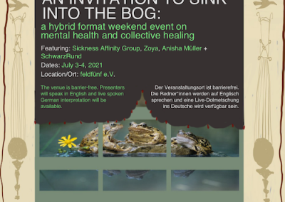 Talks: AN INVITATION TO SINK INTO THE BOG
